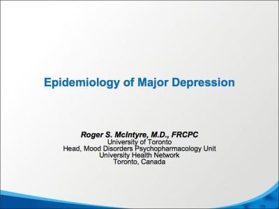 Epidemiology of Major Depression