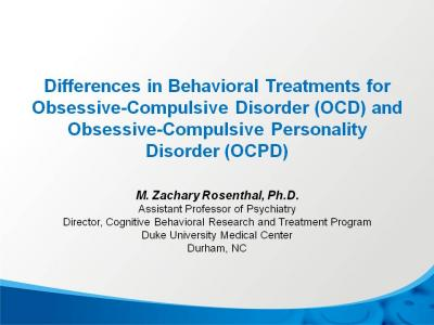 Obsessive treatment personality for disorder compulsive Obsessive Compulsive