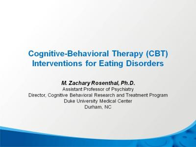 eating disorders cbt Transdiagnostic models of eating disorders and therapeutic methods: the example of fairburn's cognitive behavior therapy and acceptance and commitment therapy the.