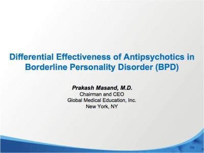 Antipsychotics in Borderline Personality Disorder