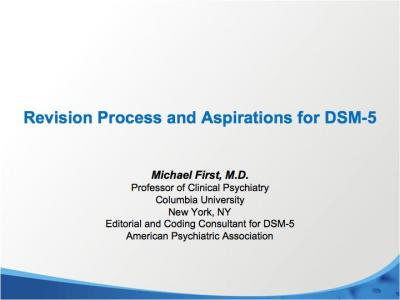 DSM-5 Revisions Process